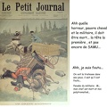 affiche accident cheval petit journal mai 1900